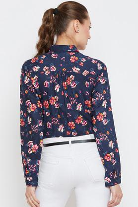 Womens Collared Floral Printed Shirt