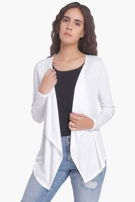 VERO MODA Womens Solid Casual Shrug  ...