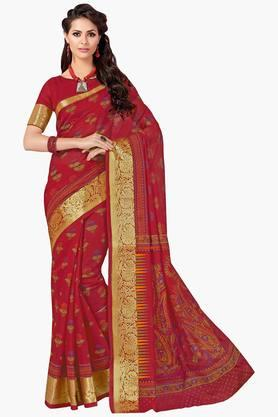 ASHIKA Womens Designer Cotton Printed Saree - 202338228