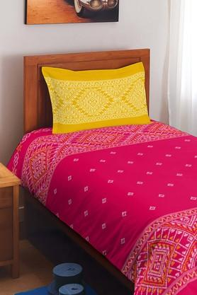 SPACESCotton Printed Single Bedsheet With Pillow Cover - 201613169