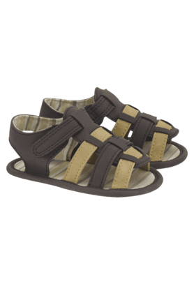 MOTHERCARE Boys Brown And Tan Interlace Sandal