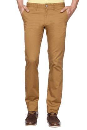 INDIAN TERRAIN Mens Slim Fit Solid Chinos - 200699369