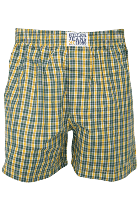 KILLER Mens Cotton Check Boxer