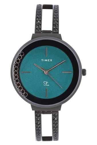 Womens Turquoise Dial Metallic Analogue Watch - TWEL13505