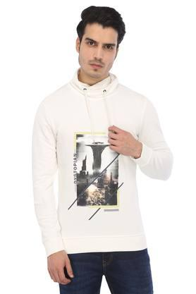 Mens High Neck Printed T-Shirt