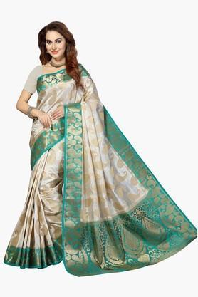 ISHINWomens Poly Silk Brocade Saree - 201628861
