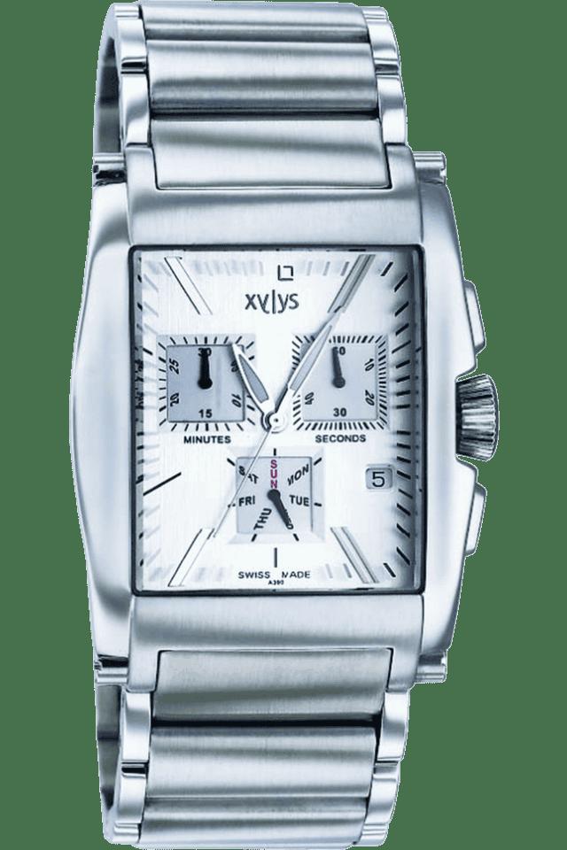 Mens Silver White Dial Watch NE9249SM02