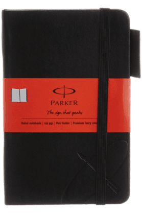 PARKER Standard Small Orange Notebook Sleeve 140 Mm X 90 Mm, 100 GSM, 192 Pages