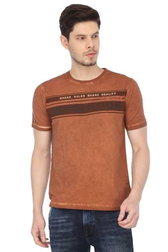 LEE COOPER -  Rust T-shirts - Main