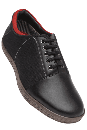 IWALK Mens Black Lace Up Casual Shoe