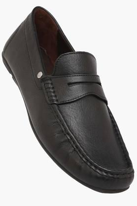 HIDESIGN Mens Leather Slip On Loafers