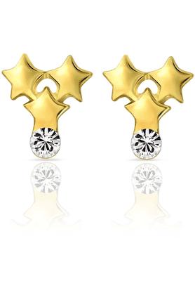 MAHIMahi Gold Plated Triplet Stars Earrings With Crystals For Women ER1103688G
