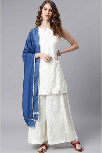 JANASYA -  Off WhiteIndianwear Sets - Main