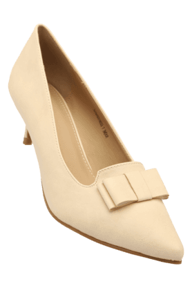 ALLEN SOLLY Womens Casual Slipon Pointed Toe Pump Shoe