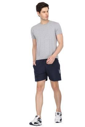 Mens 2 Pocket Solid Sports Shorts