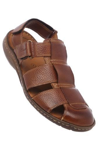 CLARKS -  Brown Mix Sandals & Floaters - Main