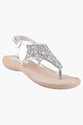 Buy Beanz Girls Party Wear Velcro Closure Sandal Shoppers Stop