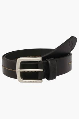U.S. POLO ASSN. Mens Leather Buckle Closure Casual Belt  ... - 202132329