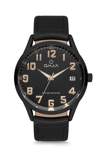 Mens Vintage Black Dial PU Analogue Watch - FA9-VC09M22A