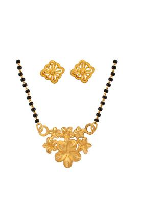 WHP JEWELLERS Womens Yellow Gold Mangalsutra Pendant Set GMPSD15081542