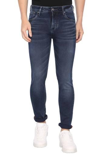 Mens Slim Fit Whiskered Effect Jeans