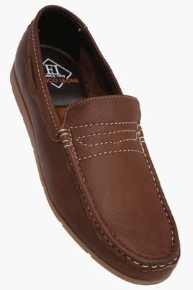 FRANCO LEONEMens Leather Slip On Loafers