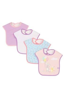 Unisex Printed and Solid Bibs - Pack of 4