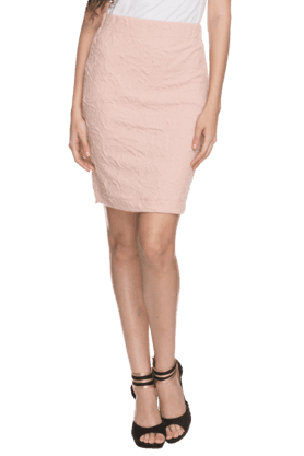 Womens Textured Pencil Skirt