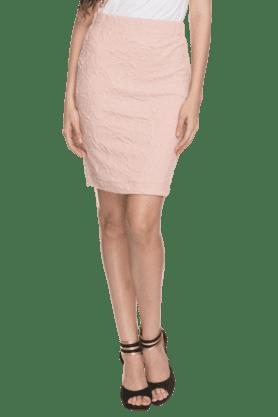 Womens Textured Pencil Skirt