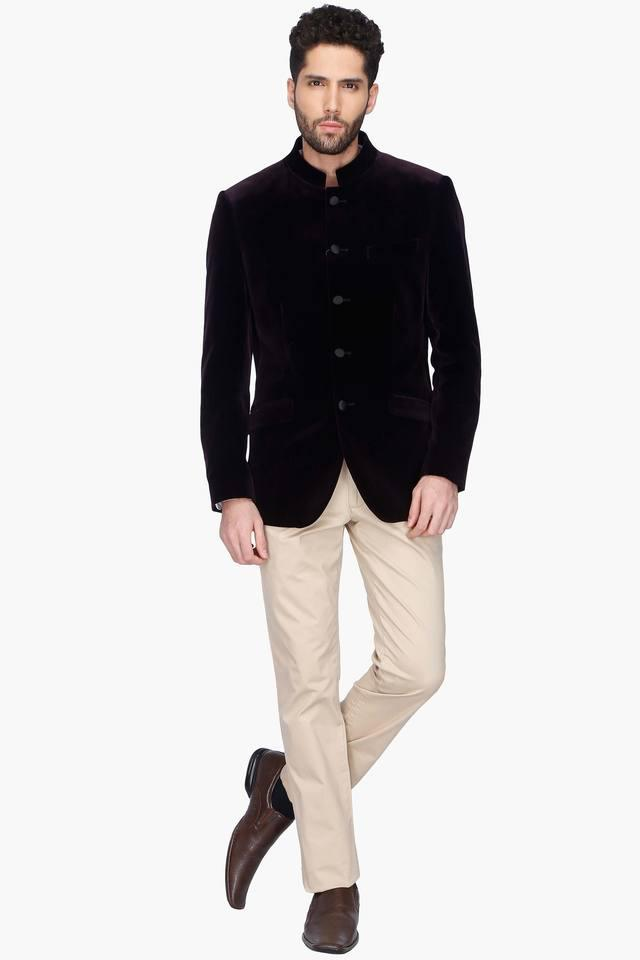 Mens Solid Full Sleeve Nehru Jacket