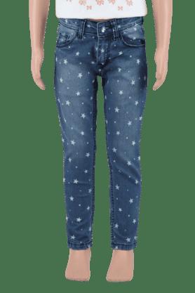 Girls Cotton 5 Pocket Jeans