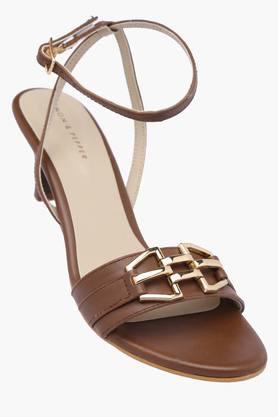 LEMON & PEPPERWomens Casual Ankle Buckle Closure Heel Sandal - 200925374