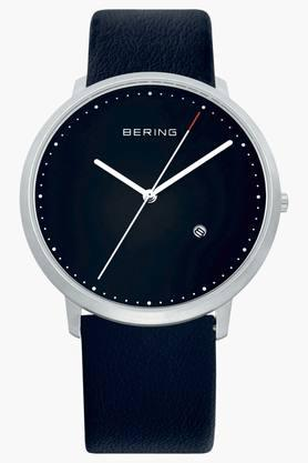 Unisex Classic Black Round Analogue Watch 11139-402
