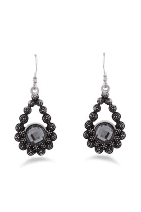 JAZZ Beautiful Designer Earrings With Black Colour Stone