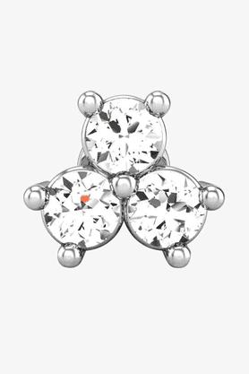 VELVETCASEWomens 18 Karat White Gold Nose Ring (Free Diamond Pendant) - 201065033