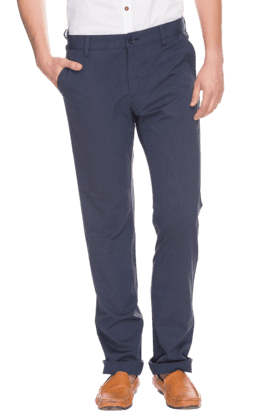 ALLEN SOLLY Mens Slim Fit Solid Chinos - 200359178