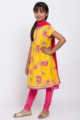 BIBA GIRLS - YellowSalwar Kurta Set - 2