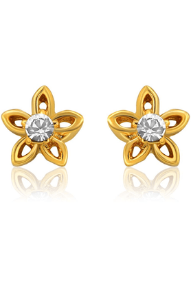 MAHI Mahi Gold Plated Bloom Earrings With Crystals For Women ER1108721G