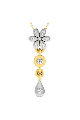 SPARKLES His & Her Collection 18 Kt Pendant In Gold & Real Diamond HHP9871