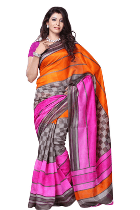 DEMARCA De Marca Multicolor Art Silk Designer DF-388C Saree