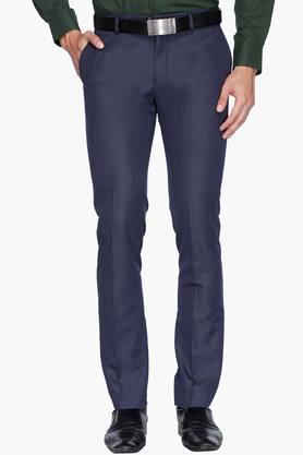 BLACKBERRYSMens 4 Pocket Slim Fit Slub Formal Trousers - 202123857