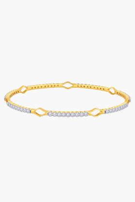 MALABAR GOLD AND DIAMONDSWomens 18 KT Gold And Diamond Bangle - 201203475