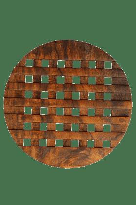 BACK TO EARTHWooden Checkered Trivet