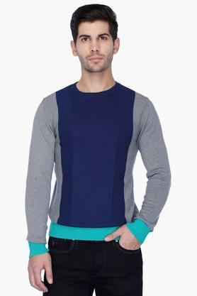 UNITED COLORS OF BENETTON Mens Regular Fit Colour Block Sweater