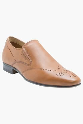 Mens Leather Slip On Formal Loafers - 201905273