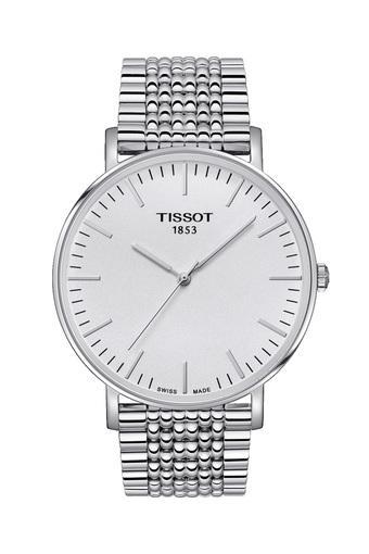 Mens White Dial Stainless Steel Analogue Watch - T1096101103100