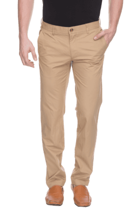 LOUIS PHILIPPE SPORTS Mens Flat Front Slim Fit Solid Chinos - 200573192