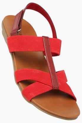 LIFEWomens Daily Wear Velcro Closure Flat Sandal