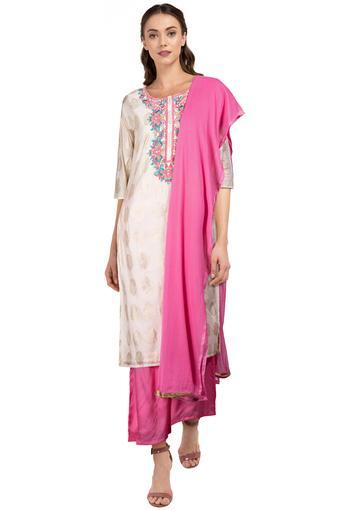 KASHISH -  Off WhiteSalwar & Churidar Suits - Main