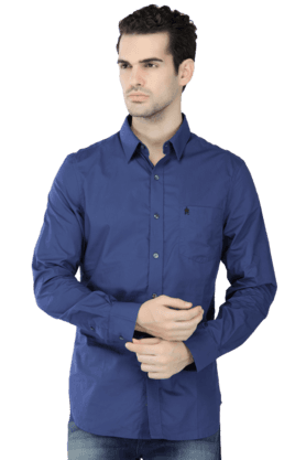 French Connection Formal Shirts (Men's) - Mens Full Sleeves Slim Fit Casual Solid Shirt